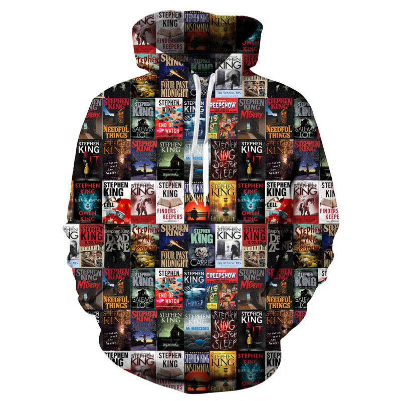 Men's Clothing Movie It Hoodie Pennywise Clown Stephen King 1990 Demented Clowns Shtick Horror Movie Hoodie Sweatshirt Cosplay Tracksuit Xxs