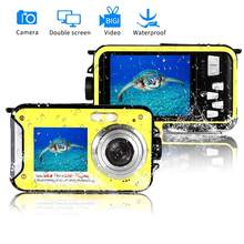 À prova d' água 1080P Full HD de Tela Dupla Digital Underwater Camera DV Gravador de Vídeo(China)
