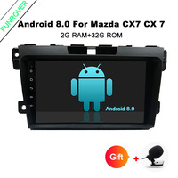 Funrover 2 Din 9 Android CAR DVD Player For Mazda CX7 CX 7 CX 7 2008
