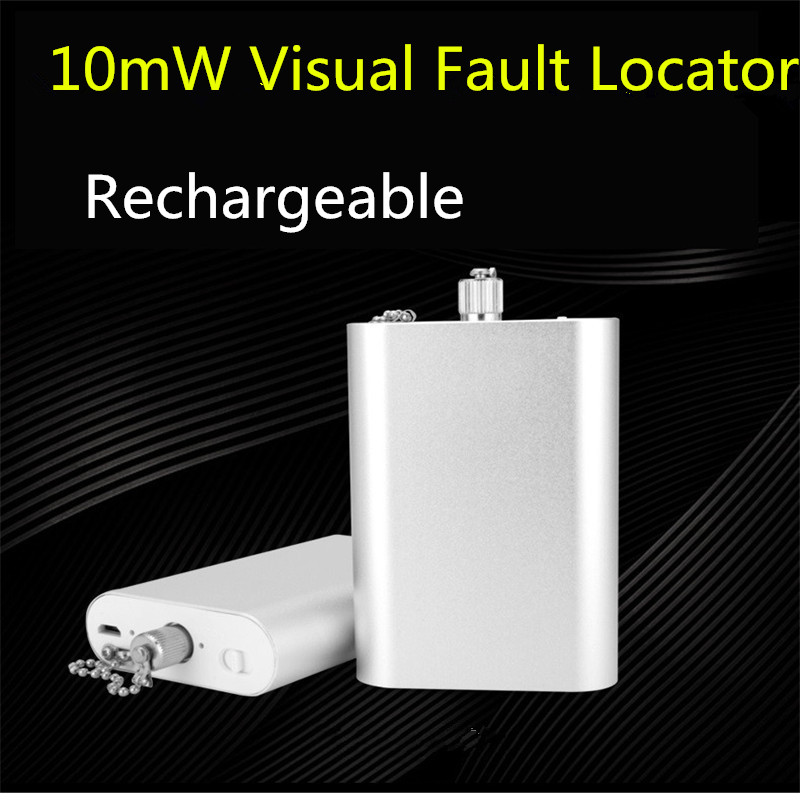 Mini 10km Rechargeable Fiber Test Pen Visual Fault Locator Light Source Fiber Pen, Pass Pen Tester 10mW