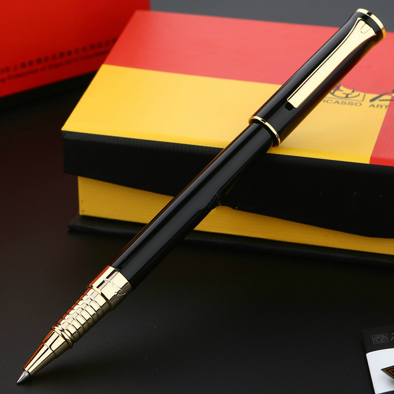 Picasso Art Palace Ballpoint Pen Full Metal 0.7mm Signning Pen Writing Stationery Office School Supply Bussiness Gift art palace picasso brand black metal roller ball pen stationery school office supplies luxury writing birthday gift ball pens