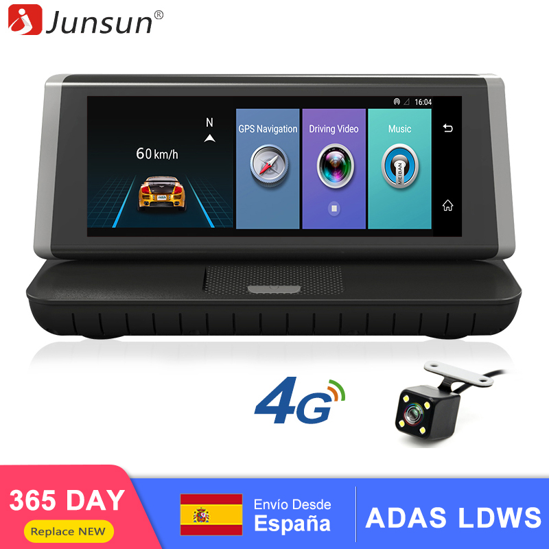 Junsun E35 DVR Car Camera 4G ADAS Android 5.1 FHD 1080P Video Recorder RAM 1G / ROM 16G Registrar DVR With Two Cameras(China)