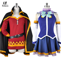 Rolecos Nuevo Anime Subarashii Kono Sekai ni Shukufuku wo! megumin megumin aqua megumin cosplay vestido de disfraces cosplay uniforme