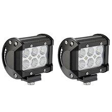 2pcs 18W Flood LED Offroad Led Light Bar Work Lamp light LED Work Lights Driving Fog Lights for Truck, Car, ATV, SUV
