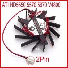 Free Shipping PLB05710S12HH 50mm 27x35x35mm 12V 0.30A For ATI HD5550 5570 5670 V4800 Graphics Card Cooling Fan