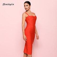 Bodycon Dress Women Sleeveless Bandage Dresses Sexy Celebrity Vestidos Knee Length Midi Evening Party Dress