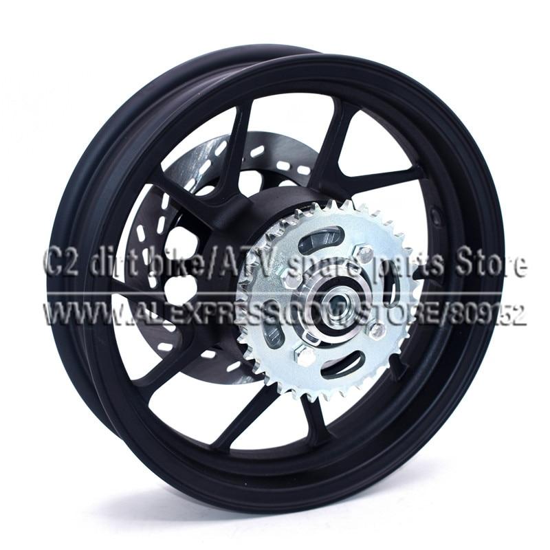 2.75-12 inch With #428-34 tooth Rear Sprocket and 200mm Diameter plate Disc Brake Vacuum Wheel Rim for Dirt Pit Bike Motorcycle rim sprocket