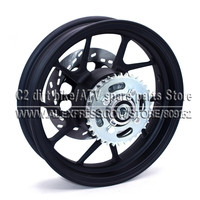 2.75 12 inch With #428 34 tooth Rear Sprocket and 200mm Diameter plate Disc Brake Vacuum Wheel Rim for Dirt Pit Bike Motorcycle