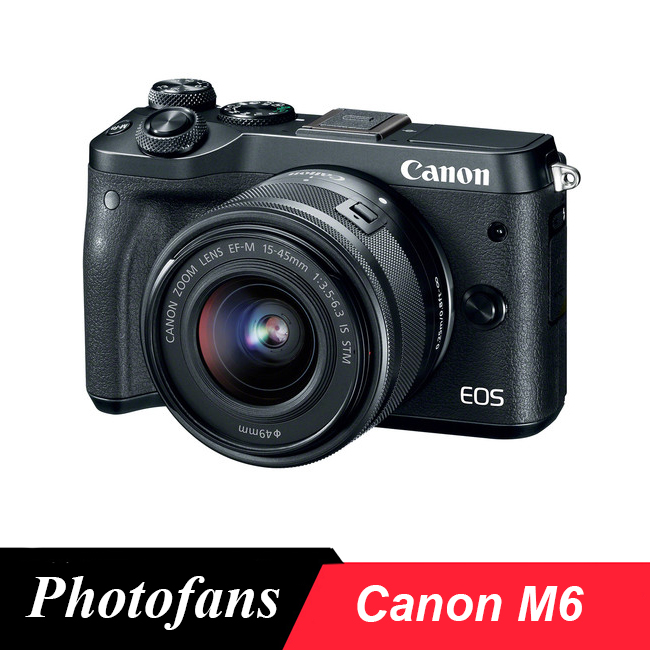 Canon M6 Mirrorless Digital Camera with 15-45mm Lens
