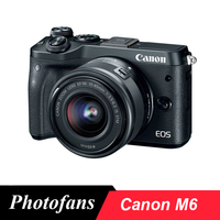 Canon M6 Mirrorless Digital Camera with 15 45mm Lens