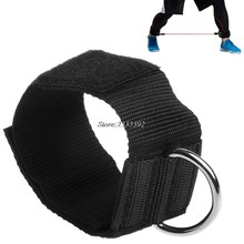 D-ring Ankle Anchor Strap Belt Multi Gym Cable Attachment Thigh Leg Pulley Strap Lifting Fitness Exercise Training Equipment(China)