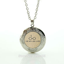 Case  harry  Necklace – I heart Case  harry  with  bolt scar and glasses  boy who lived Jewelry locket pendant N726