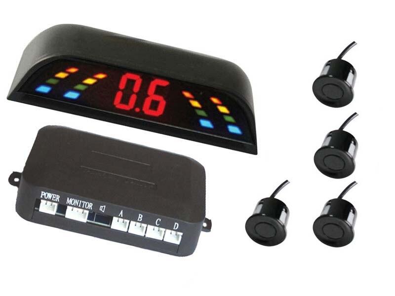imágenes para Pantalla LED Sensor de Aparcamiento electromagnético coche de Visión Trasera de Copia de seguridad de Radar de Alarma Sistema de Seguridad, Vehículo 4 Sensores de aparcamiento Asistencia