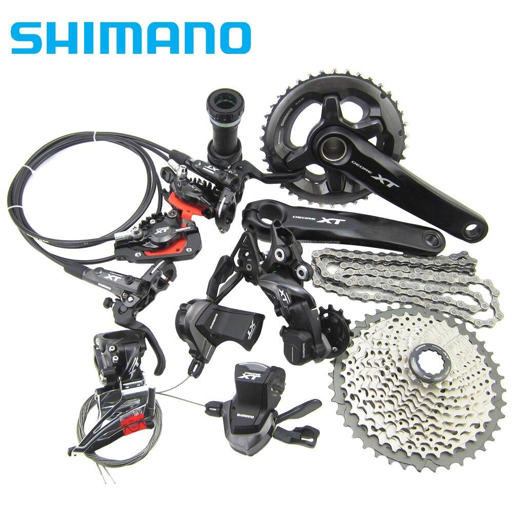 Shimano Deore XT Drivetrain M8000 Group MTB bike bicycle Group Set 1x11s/2x11s 11/22 speed shimano deore xt 22 speed mountain bicycle crank set fc m8000 b2 175mm 34 24t