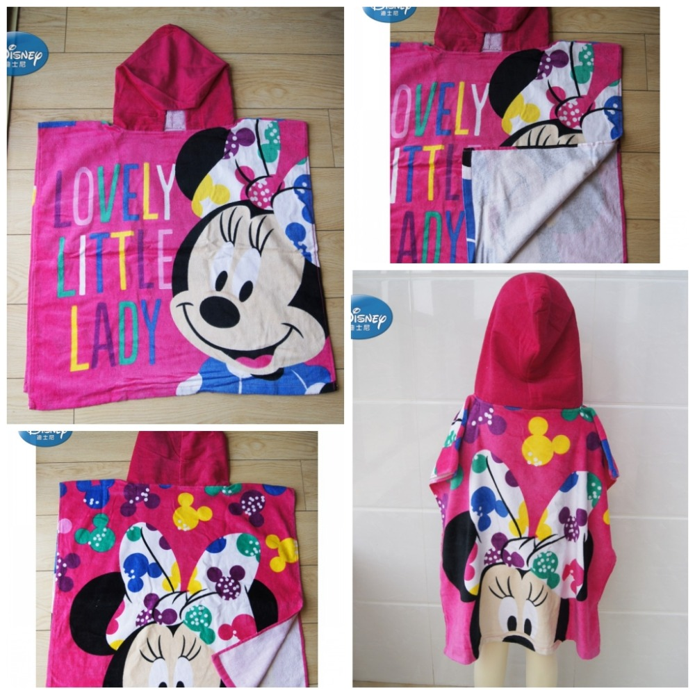 Home & Garden Disney Elsa Anna Princess Hooded Bath/beach Towel Toddler Cartoon Red Mickey Mouse Soft Towel Cloak For Boys Girls Swimming Home Textile