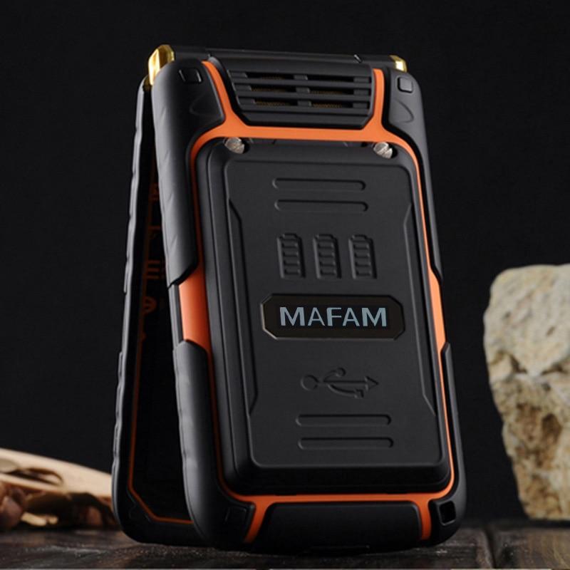 MAFAM x9 двойной флип двойной экран двойной спикер сим карты один ключ набрать длительным временем ожидания fm старший мобильный телефон для пожилых людей p008