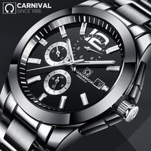 CARNIVAL 6 Hands Ceramics Strap Mechanical Men Watch Waterproof Luminous TopBrand Luxury Business Casual Wrist Watch Legendary все цены