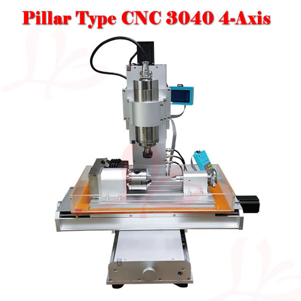Russia free tax CNC router 3040 4 axis wood carving machine for woodwoking russia tax free cnc woodworking carving machine 4 axis cnc router 3040 z s with limit switch 1500w spindle for aluminum