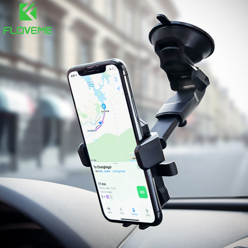 FLOVEME Automatico Auto Del Supporto Del Telefono Per Samsung Galaxy S9 S8 Universale Flessibile Supporto Da Tavolo Supporto da Auto Per iPhone X 8 7 6 6 s Plus