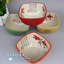 Four-color high temperature ceramics Color bowls  ceramic