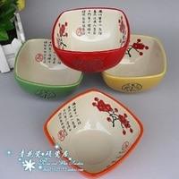 Four color high temperature ceramics Color bowls ceramic bowls