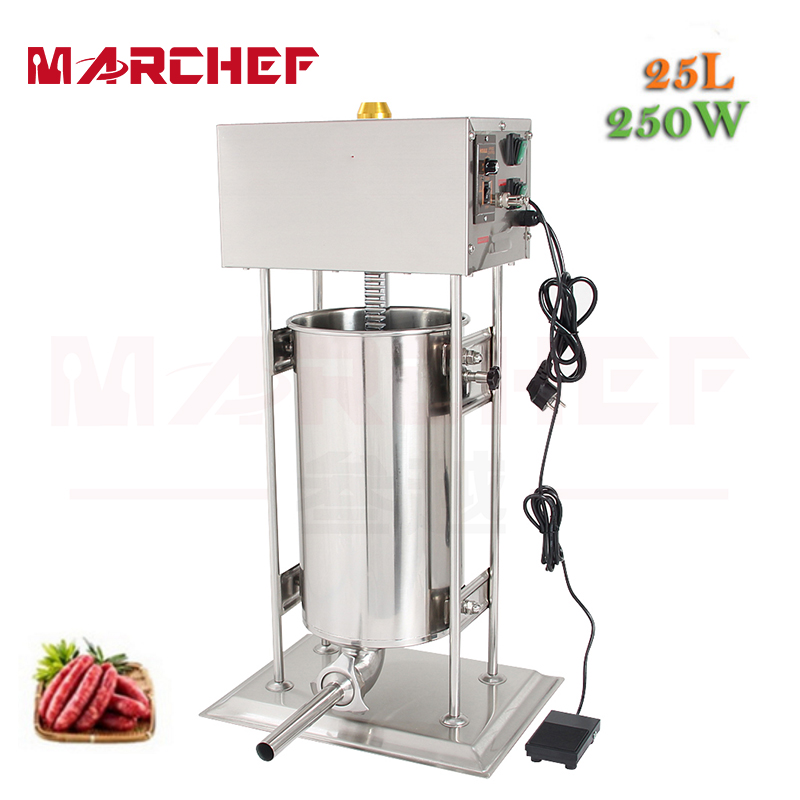 25L Automatic Vertical Stainless Steel Commercial Electric Sausage Stuffer Filller Machine new automatic stainless steel commercial vegetable