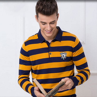 2018 Autumn Winter Men Wool Sweater Jumper Polo Men Pullover Sweaters Striped Knitting Patterns Male Sweaters Pull Hombre XXL 50