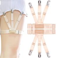 Phụ nữ đàn hồi của vớ dây đeo màu da nam t-shirt garter PU leather garter Clip-on vớ vành đai 1.5-2.5 chiều rộng HDW9002