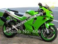 Hot vente, Blanc vert ZX6R carénage pour KAWASAKI Ninja ZX6R 1994 1995 1996 1997 ZX 6R 94 - 97 94 95 96 97 ABS carénage en plastique set