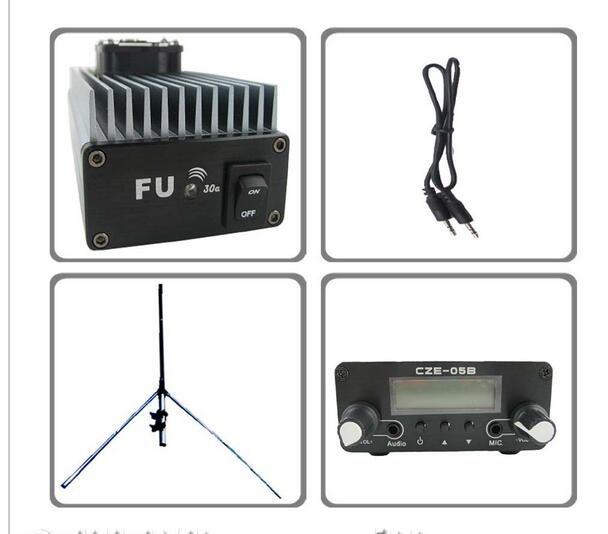 FMUSER FU-30A 30W Professioneller FM-Verstärker 85 ~ 110MHz mit GP-Antenne KIT