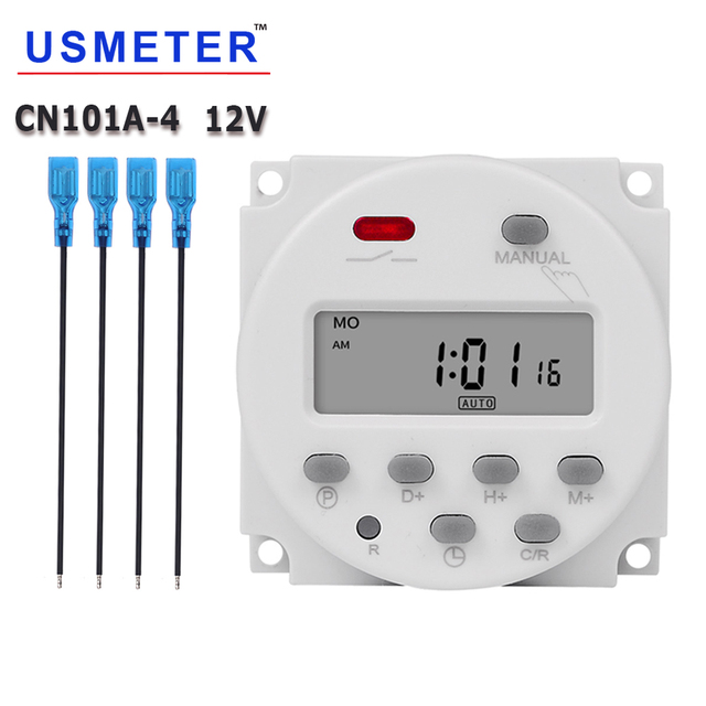 CN101A Economic Model Mini Timer Switch 12v LCD Digital 7 Days Programmable Timer Oven Timer Switch 16a Timer ac Week Timer