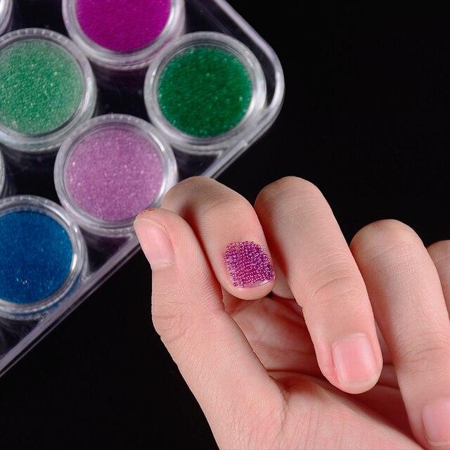 New Arrival 12 Bottleset Caviar Beads Studs Nails Metal Caviar
