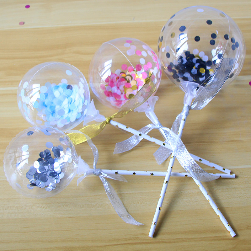 1pc 5inch Confetti Balloon Cake Topper Decoration with ...