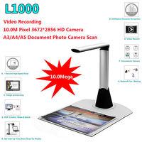 Free shipping!L1000 Mini A3 A4 A5 10Mega 3672*2856 Document Book Photo ID Scanner Camera New
