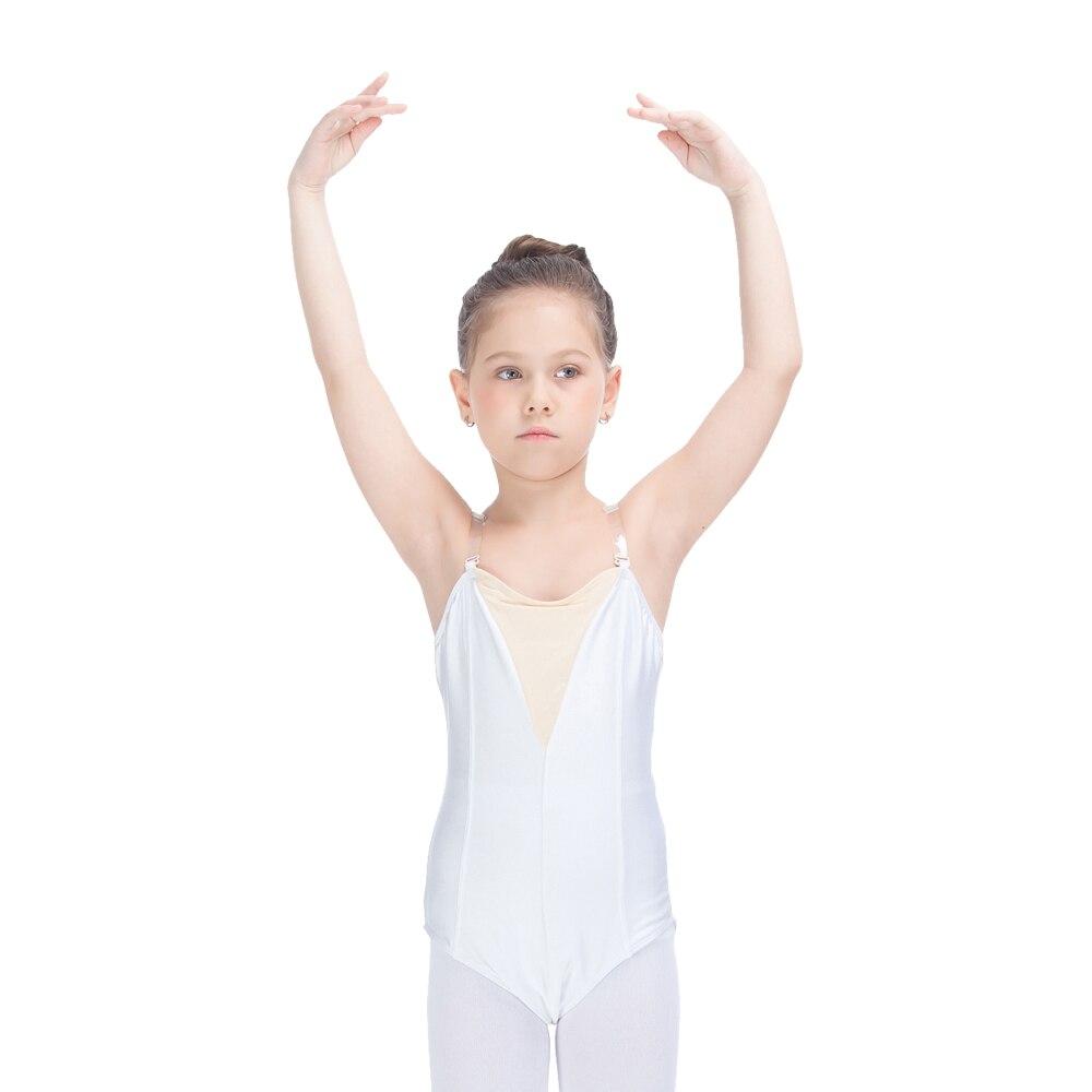 kids-font-b-ballet-b-font-dancewear-nylon-lycra-leotard-with-nude-insert-front-clear-elastic-straps-girls-performance-bodysuit