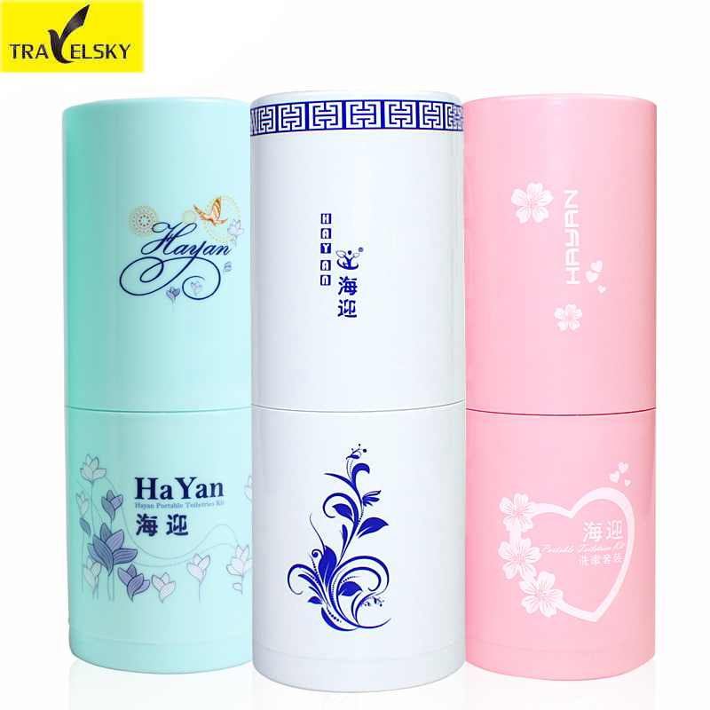 Travel Accessories Portable Wash Gargle Cup Toiletries Set To Travel Tourism Supplies Toothpaste Toothbrush Cup Towel