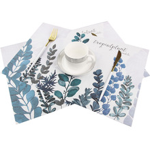 Nordic Style Creative Home Pvc Placemat Japanese-style Printing Placemats Student Table Insulation Pad Unicorn Western Food Mat