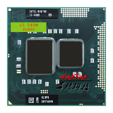 Intel Core i5 540M i5 540M SLBPG SLBTV 2.5 GHz Dual Core Quad חוט מעבד מעבד 3W 35W שקע G1/rPGA988A
