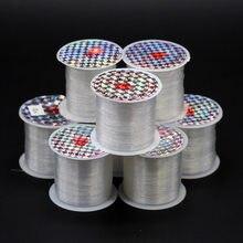 1 rolo 0.2-1mm claro fio de pesca náilon extra forte pendurado adereços não estiramento miçangas jóias artesanato fio fio cordas cabo