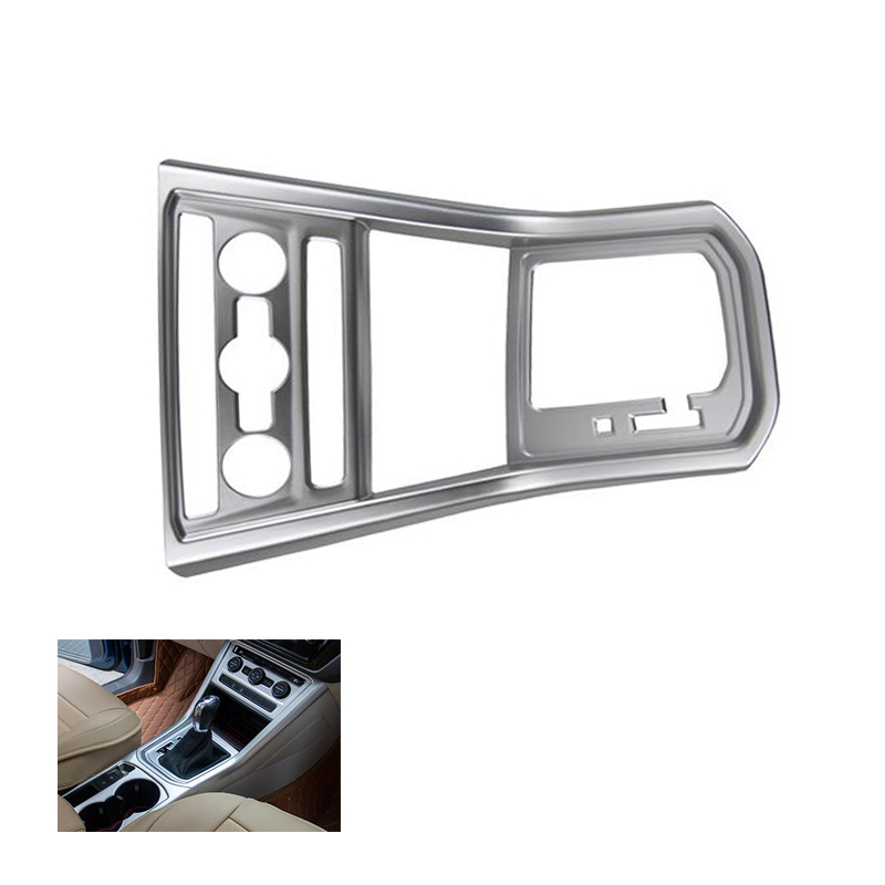 ABS Matte Gear Box Cover Water Cup Frame Sequins Trim For VW Volkswagen Touran 2016 2017 Interior Accessories 1pcs 18pcs chrome interior ac outlet trim cup holder roof light handle cover armrest wheel trim frame cover for jeep cherokee 2014 15