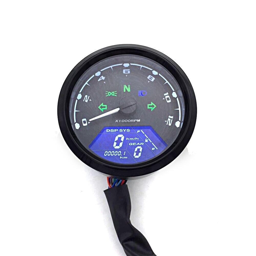 אופנוע מד LED Digita מחוון אור Tachometer מד מרחק מד מהירות שמן מטר משולב עם ראיית לילה חיוג