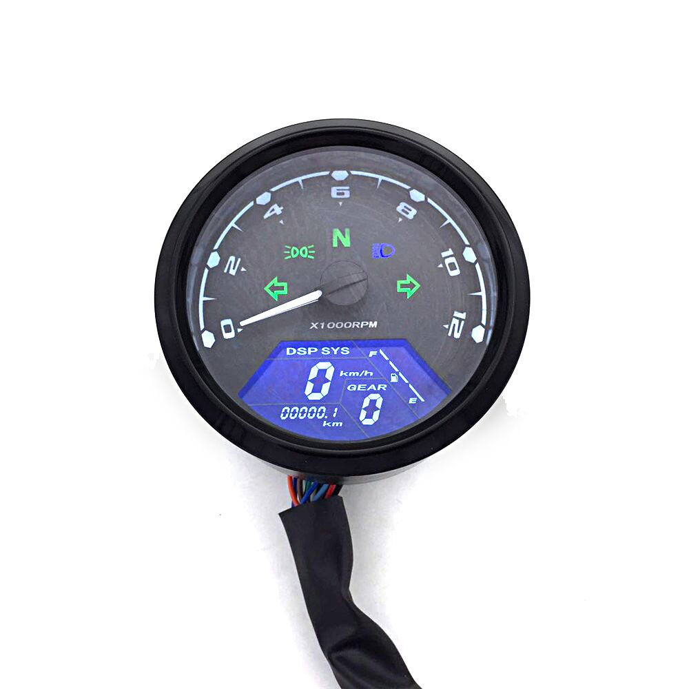 Moto Meter LED Digita Indicatore Luce Tachimetro Contachilometri Tachimetro Quadrante Olio Meter Multifunzione Con Visione Notturna