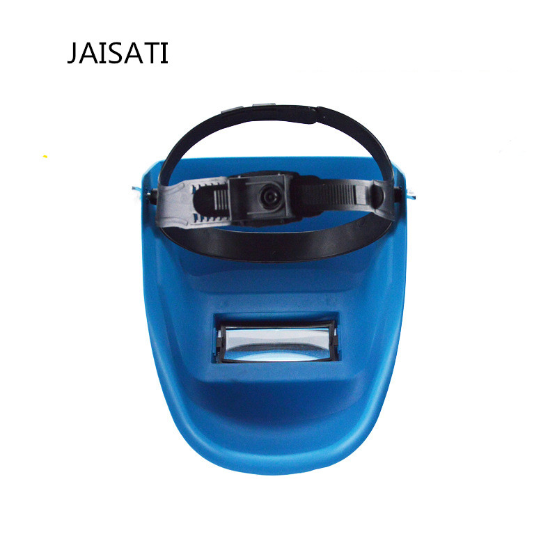 JAISATI black blue Headset  welding grille argon arc mask double layer glass insulated protective mask