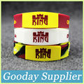 30PCS/LOT LEBRON JAMES silicone sport wristband Basketball player rubber band with 3 color Glow in the dark silicone bangle