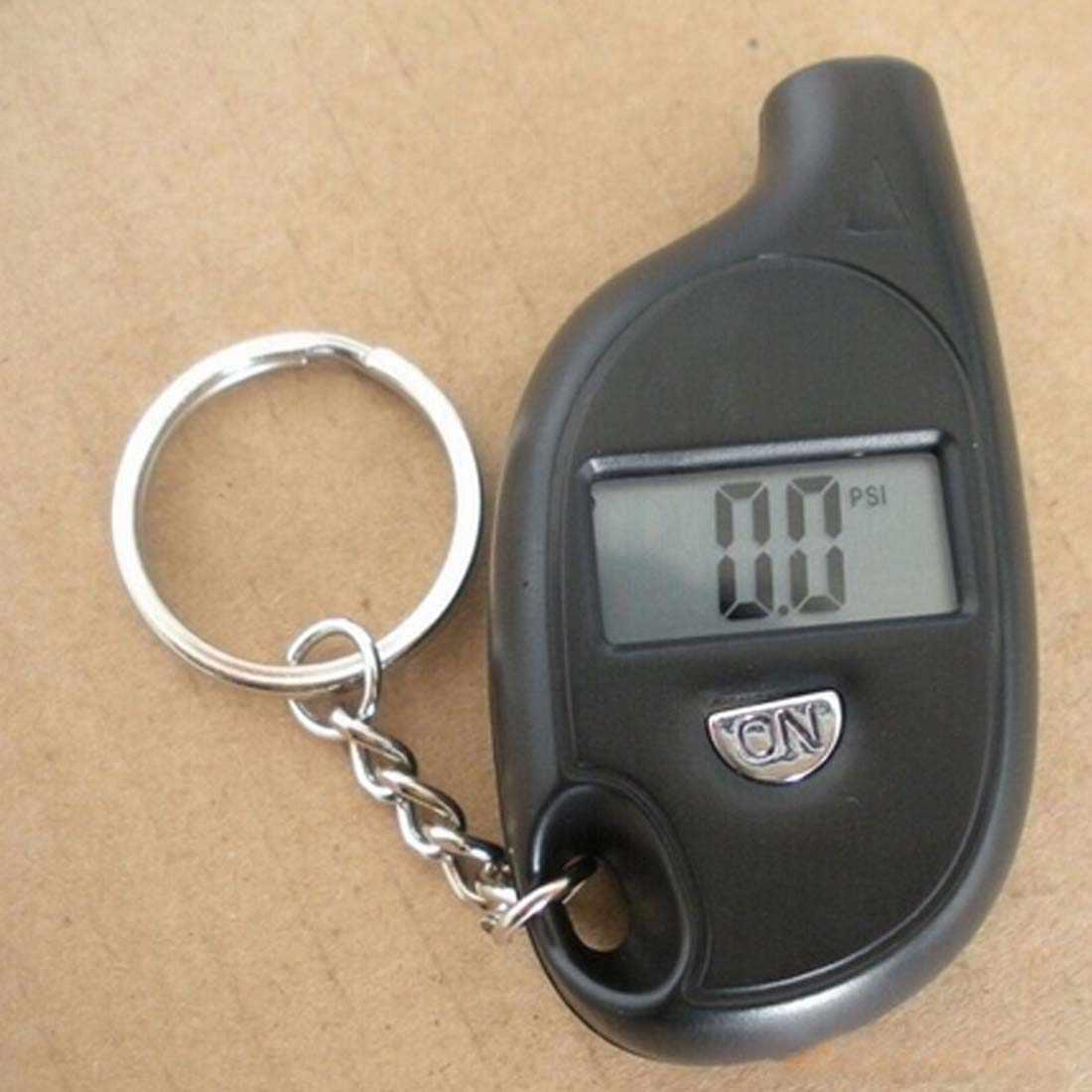 Màn Hình LCD Kỹ Thuật Số Tự Động Bánh Lốp Xe Móc Khóa Đồng Hồ Đo Áp Lực Khí Đo Kiểm Tra Mini Lốp Bút Thử Cho Xe Ô Tô Xe Máy