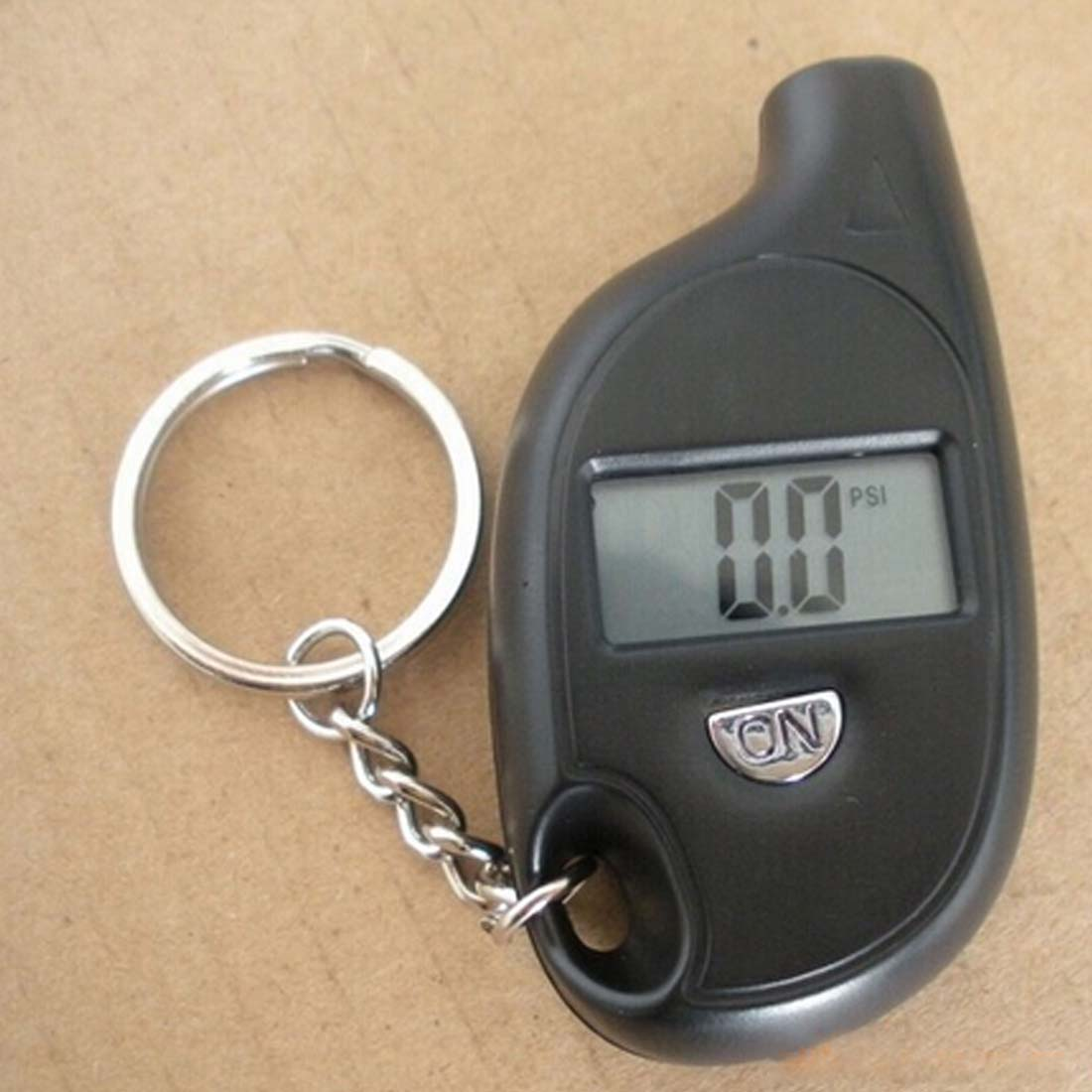 Portable LCD Digital Auto Wheel Tire Keychain Air Pressure Gauge Meter Test Tyre Tester For Vehicle Motorcycle Car