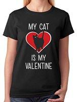 חנות באינטרנט Crew Neck חולצה קצר שרוול נשים החבר הכי טוב אהבה מתנה cat cat הוא האהבה שלי מאהב חולצות