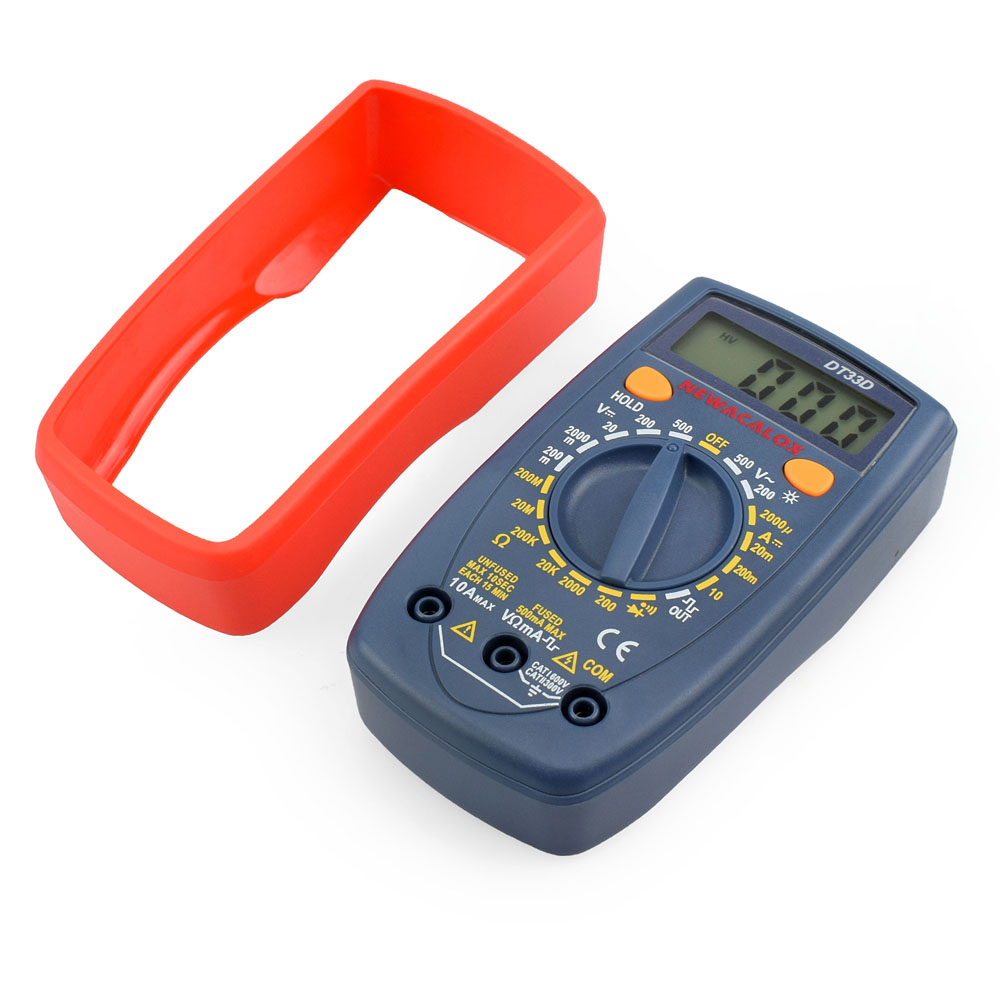 NEWACALOX DT33 LCD Multímetro digital Luz de fondo AC / DC - Instrumentos de medición - foto 3