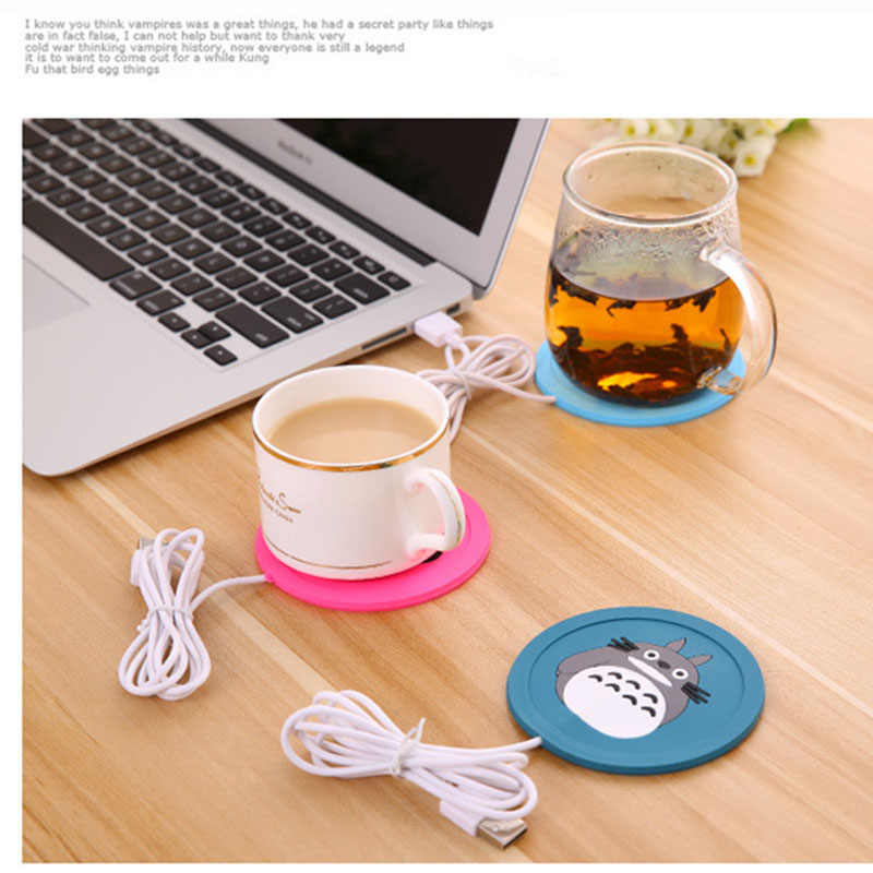 USB Warmer Gadget Cartoon Silicone thin Cup-Pad Coffee Tea Drink usb Heater Tray Mug Pad nice Gift