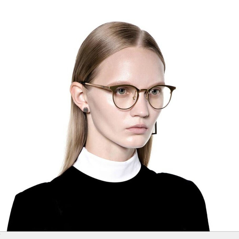 00bfbd4fd25 Hot Sale Unisex Gold Eye Glasses Frame Men Women Eyeglasses Vintage For Mens  Metal Eyeglass Frames Eyewear Clear Fashion Star-in Eyewear Frames from  Men s ...